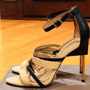 BCBG super soft leather calf heels, size 9